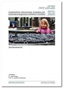 """Gutachterliche Untersuchung """"Evaluation des Denkmalschutzgesetzes Nordrhein-Westfalen"""""""